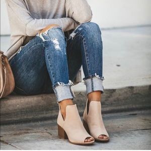 Jade peep toe booties